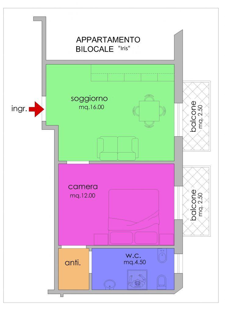 Appartamento Iris planimetria